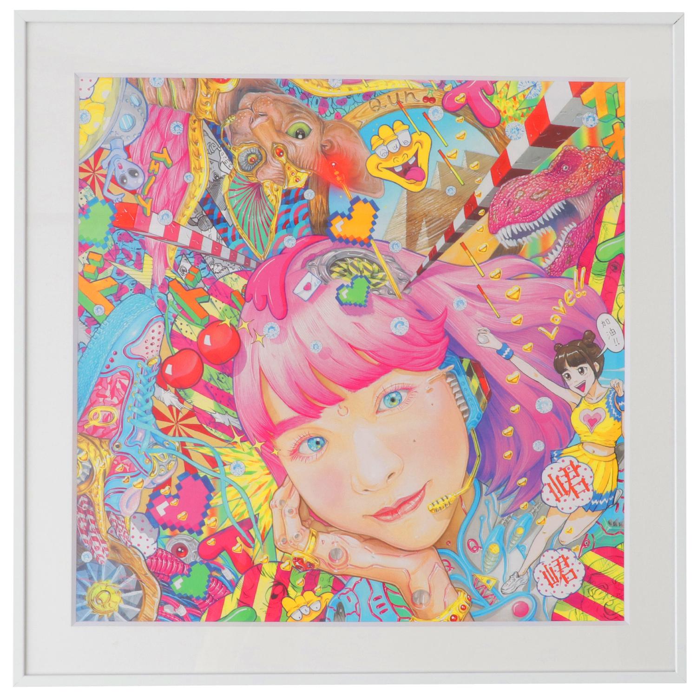 Qun Qun×YASUTOSASADA Art Collaboration Digital Print