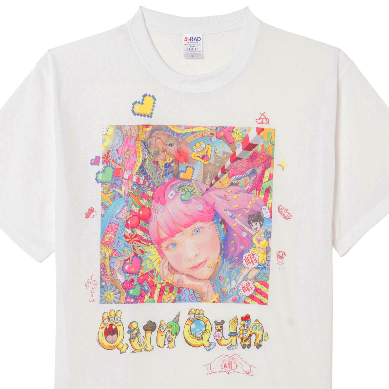 Qun Qun×YASUTOSASADA Art Collaboration T-shirt(Size XL only) No.2