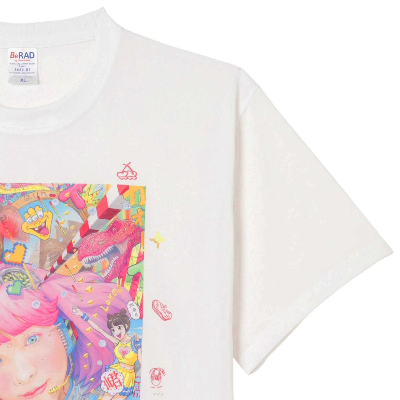 Qun Qun×YASUTOSASADA Art Collaboration T-shirt(Size XL only) No.3