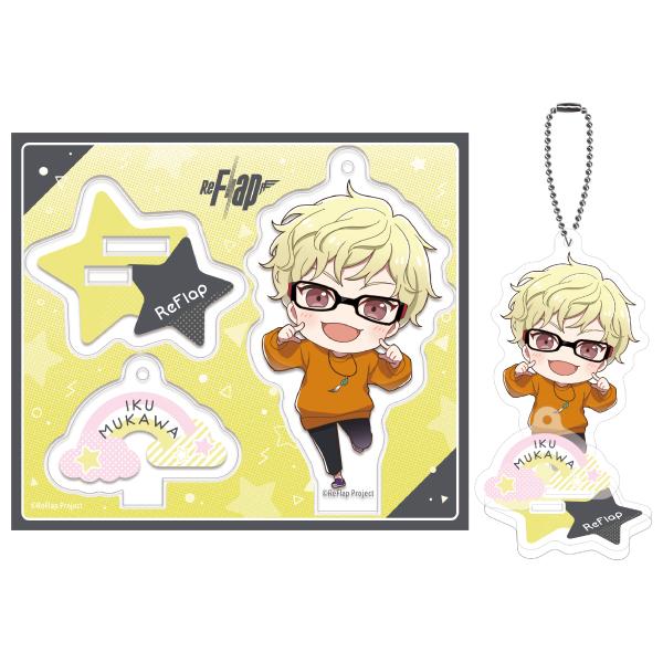 ReFlap Acrylic Stand Key Chain  MUKAWA  IKU Ver