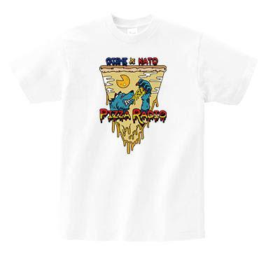 """【Oishi x Kato's Pizza Radio】""""Pizzara Werewolf"""" T-Shirt White"""