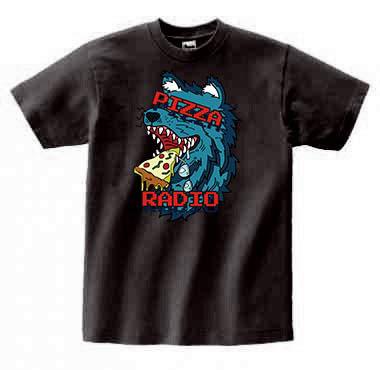 "【Oishi x Kato's Pizza Radio】""Pizarra Werewolf"" T-Shirt Black"