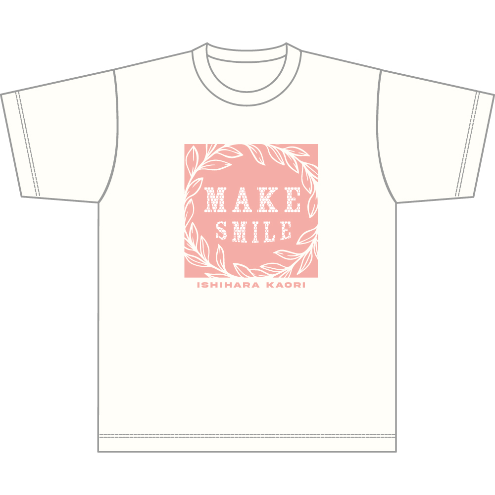 "Ishihara Kaori 2nd LIVE ""MAKE SMILE"" T-shirt A/size L"