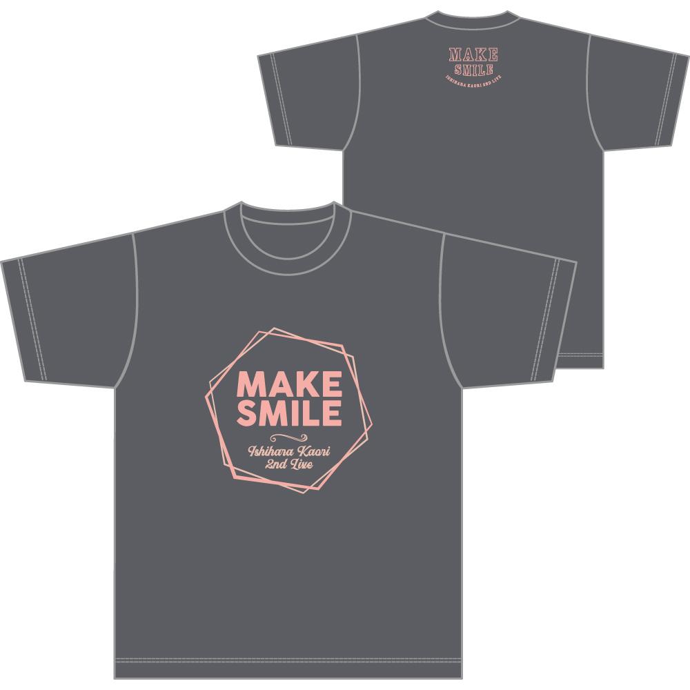 """Ishihara Kaori 2nd LIVE """"MAKE SMILE"""" T-shirt B/size L"""