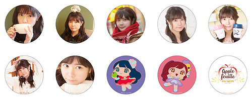 "Taketatsu Ayana BEST LIVE  ""apple feuille"" Trading Badge No.1"