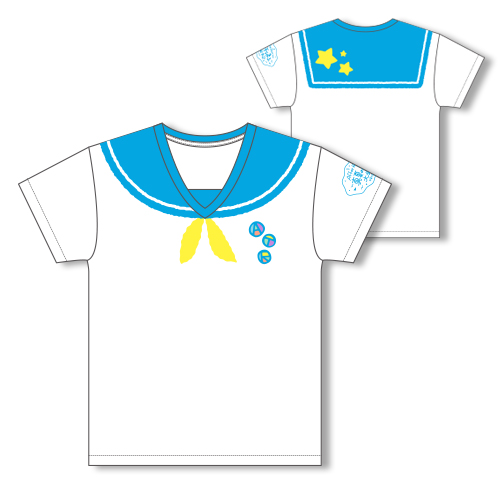 【soraru】Sailor-style T-shirt/Blue