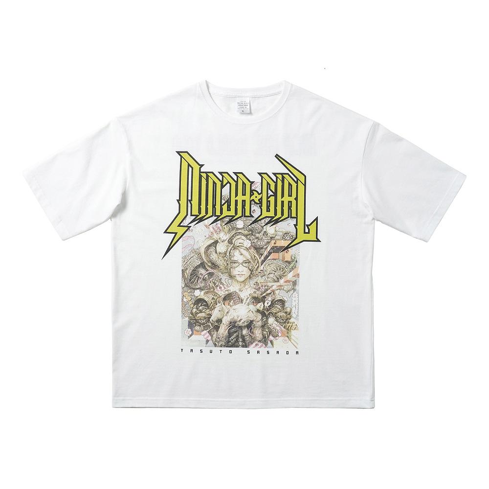 NINJA GIRL Original T-shirt  L size (YASUTO SASADA)