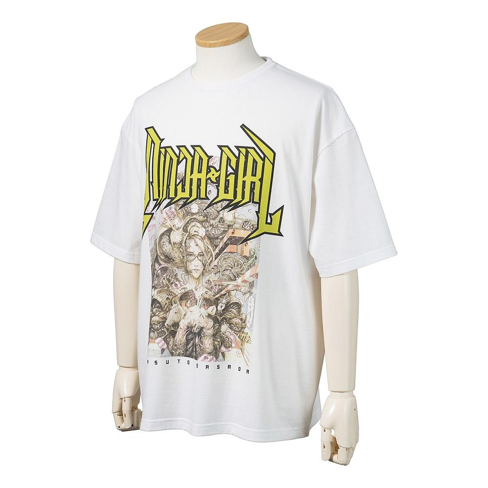NINJA GIRL Original T-shirt  L size (YASUTO SASADA) No.3