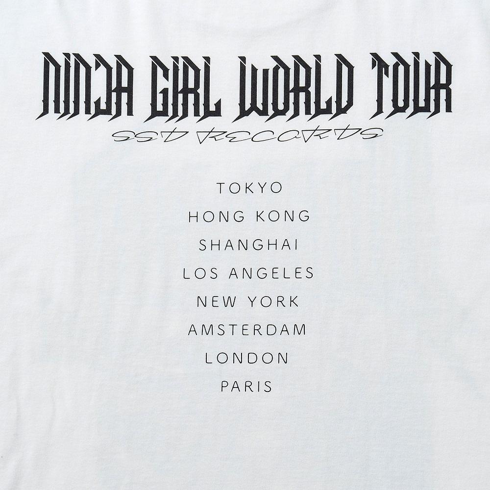 NINJA GIRL Original T-shirt  L size (YASUTO SASADA) No.5