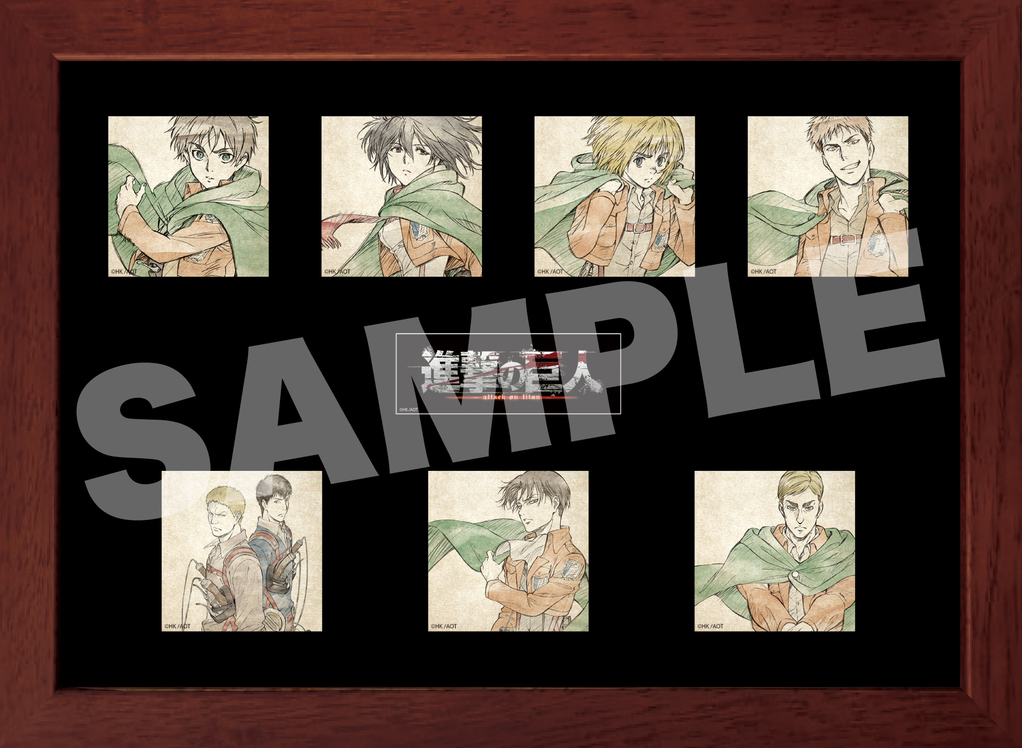 """※For customers in North and South America and Europe※【Attack on Titan """"CD Jacket Pin Badge Set""""】 Release in early October 2021"""