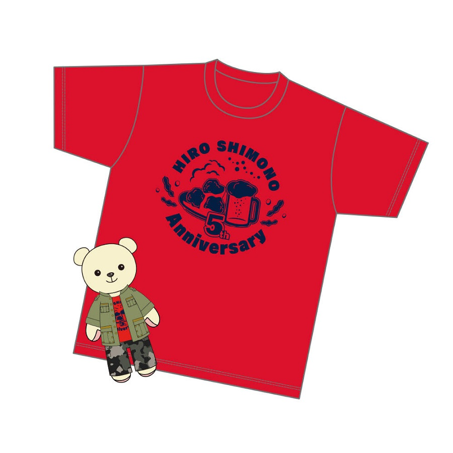 【canime limited version】Shimono Hiro×Kumamate Collaboration / Plush Mascot & Costume Set +Original T-shirt Release in early March 2022