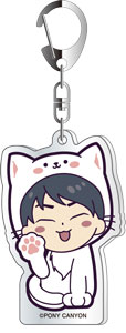 Fukuyama Jun dis-communicate Special Mini Live JUNJUN Acrylic Key Chain White Cat ver.A
