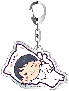 Fukuyama Jun dis-communicate Special Mini Live JUNJUN Acrylic Key Chain White Cat ver.B
