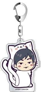 Fukuyama Jun dis-communicate Special Mini Live JUNJUN Acrylic Key Chain White Cat ver.C