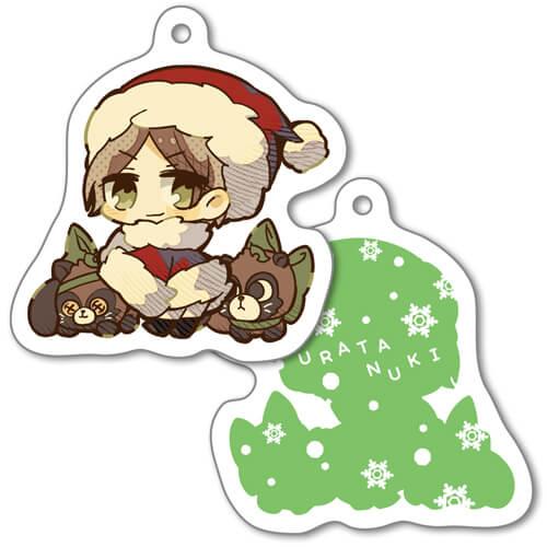 【Uratanuki Birthday Online Live date.】URATANUKI Acrylic Key Chain Christmas Party ver. No.1