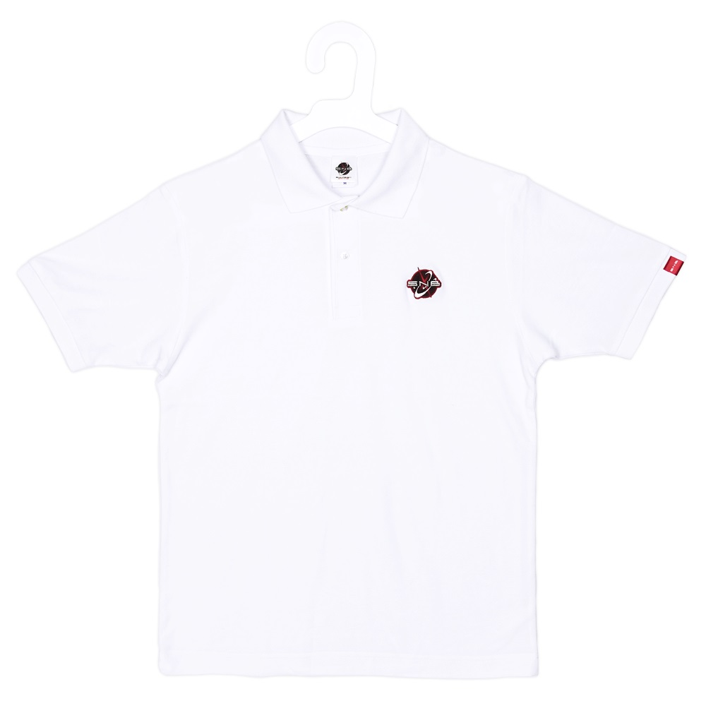 SNB Logo Embroidered Polo shirt. White size M No.1