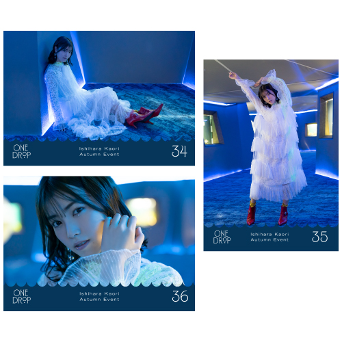 "Ishihara Kaori AUTUMN EVET ""ONE DROP""  Photo A set"