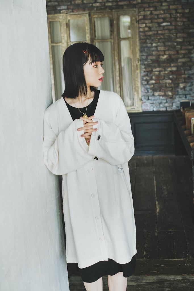 AMATSUKI Long Cardigan (Off-white)