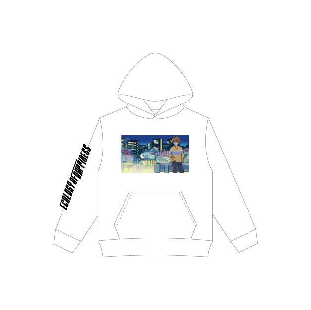 MEYCHAN Hooded Sweatshirt (White)