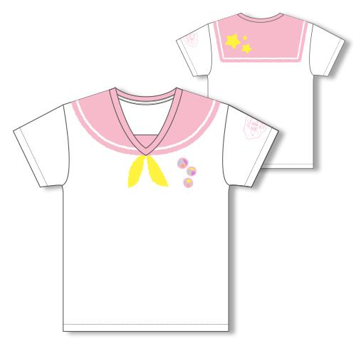 Sailor-style T-shirt/Pink
