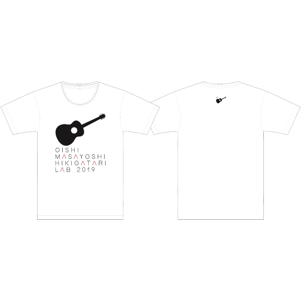 Oishi Masayoshi Sing with a Guitar LAB LIVE TOUR 2019 T-shirt WHITE S