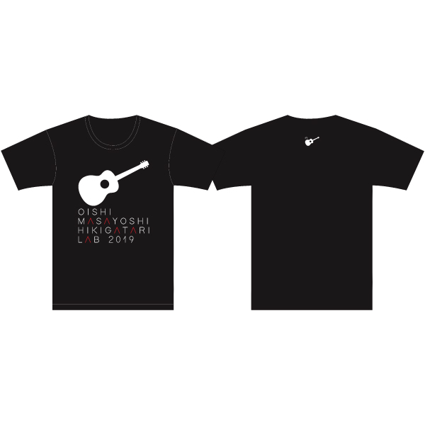 Oishi Masayoshi Sing with a Guitar LAB LIVE TOUR 2019 T-shirt BLACK XL