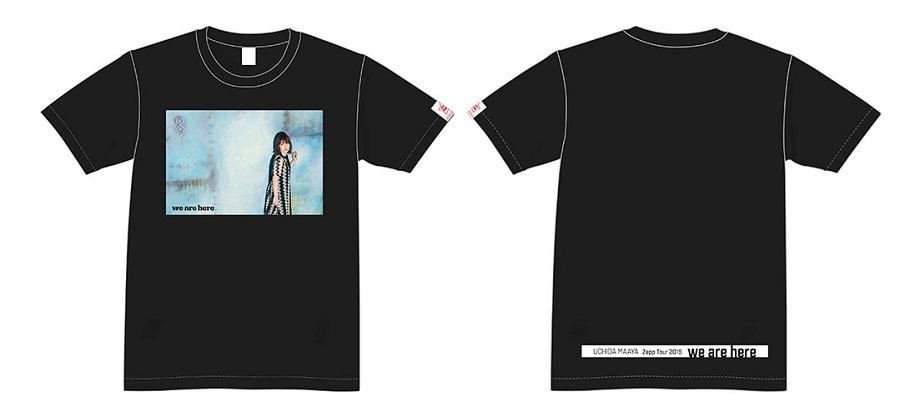 """UCHIDA MAAYA Zepp Tour 2019 """"we are here""""  T-shirt Black size S"""