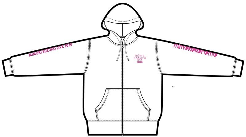 "Mimori Suzuko Live 2020 ""mimokokoromo""  Hooded Sweatshirt size free"