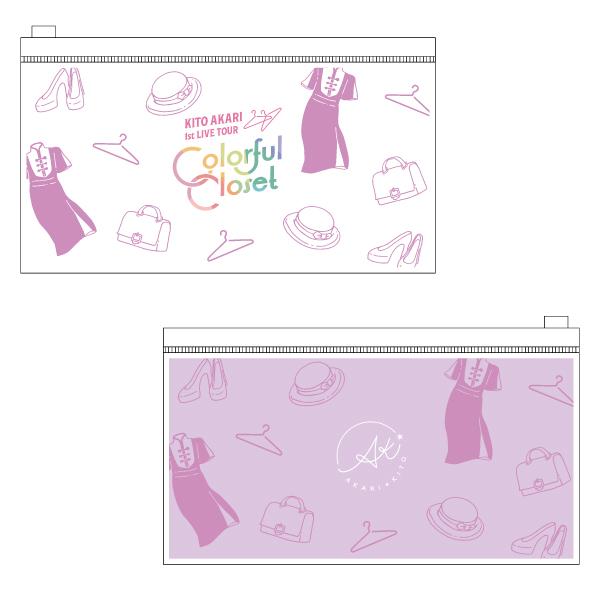 "Kito Akari 1st LIVE TOUR ""Colorful Closet"" Vinyl flat pouch No.1"